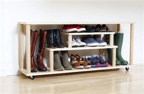 make your own shoe storage diy shoe rack for the entryway or mudroom