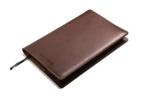Custom Note Book A5 1 personalized a5 leather notebook brown carveon