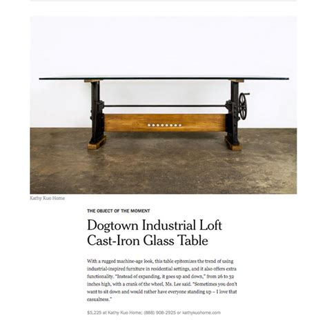 Industrial Loft Cast Iron Wall Dogtown Industrial Loft Cast Iron Glass Dining Table Kathy Kuo Home