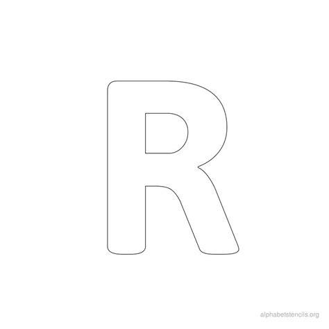 free printable bold letter stencils bubble letter r uppercase www pixshark com images