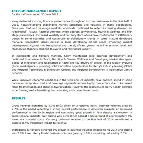 report to management template sle management report 14 documents in pdf word