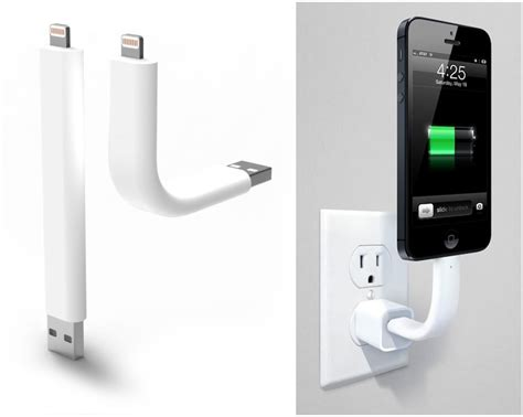 Kabel Iphone Lightning Cable For Mininew Iphone trunk posable lightning cable doubles as iphone stand