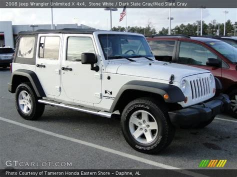 White Jeep With Interior by White 2008 Jeep Wrangler Unlimited X 4x4