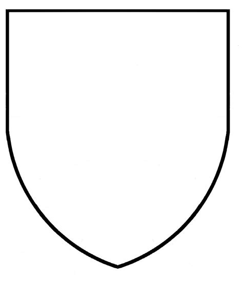 blank coat of arms coloring pages