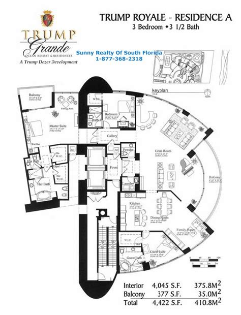 the trumps floor plan floor plans