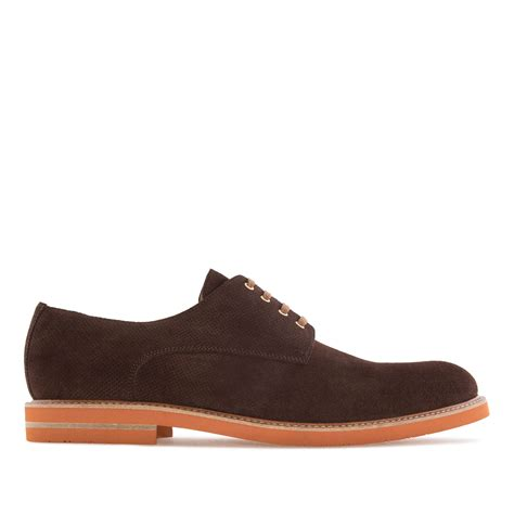 oxford shoes in brown split leather alonai 169 90