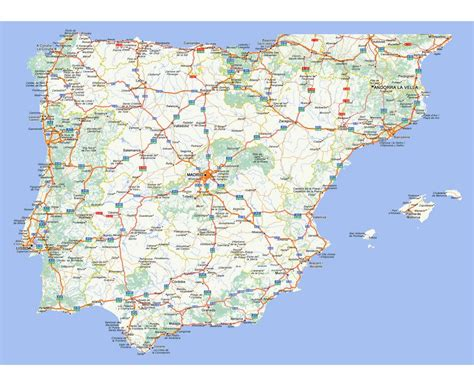 map of spain with cities maps of spain detailed map of spain in tourist
