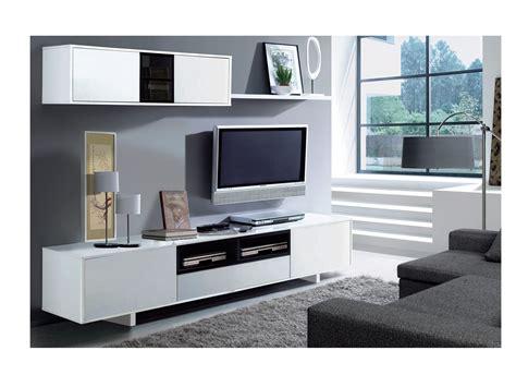 mueble de comedor  tv blanco  negro oferta salon