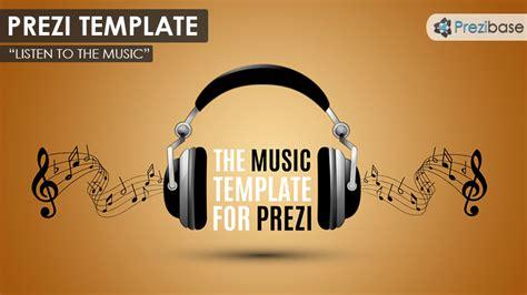 listen to the music prezi template prezibase
