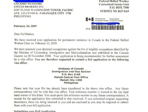 Bank Letter Cic Centralized Intake Office Cio Canadian