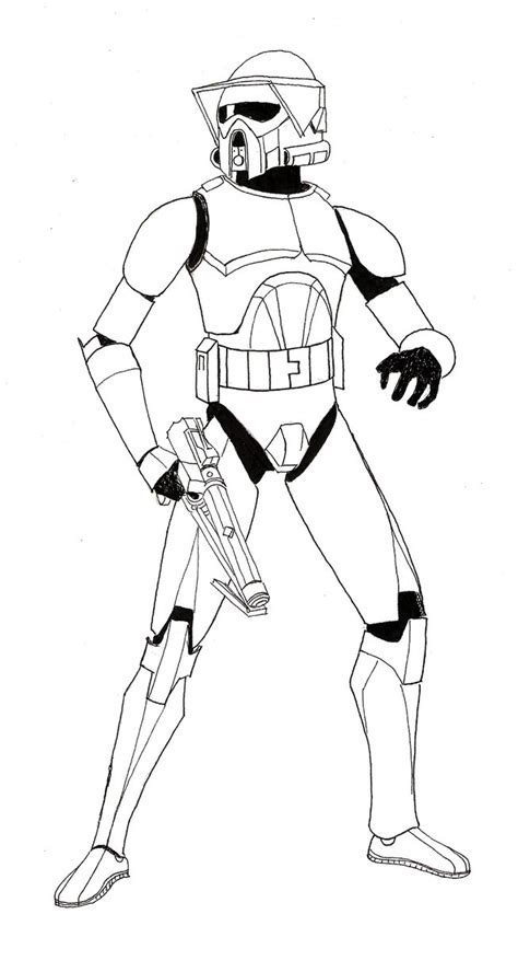 coloring pages wars clone trooper the arf trooper project 1 lineart by zaegandun on deviantart