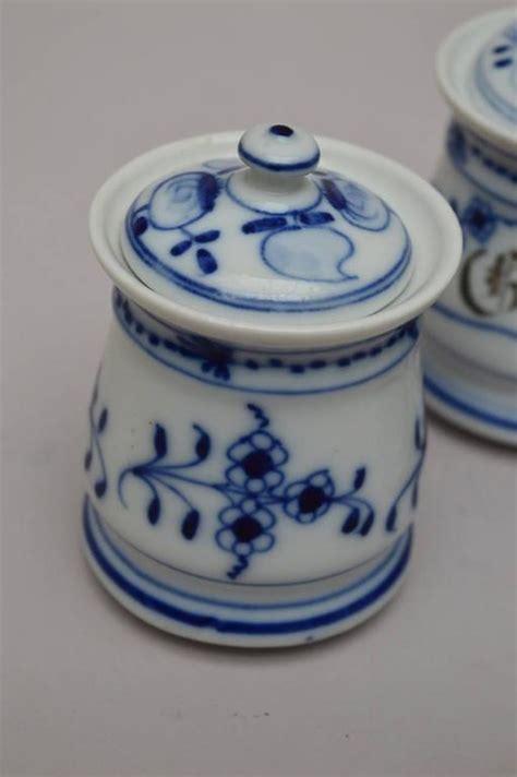 Spice Jars For Sale Set Of Three Bavarian Blue And White Ceramic Spice Jars