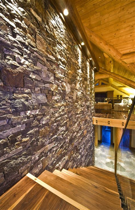 Sticks And Stones Interior Design by Okanagan Log Home Rustic Staircase Vancouver By