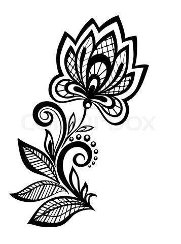 henna flower vector | Floral pattern design, Flower tattoo