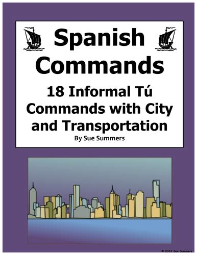 Informal Tu Commands Worksheet
