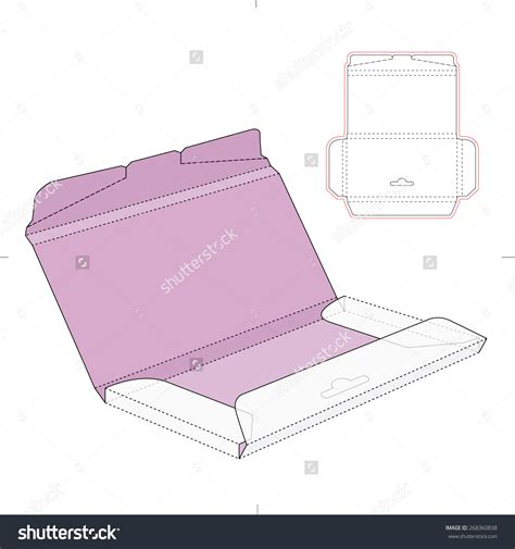 free die cut templates for boxes chocolate box with die cut template stock vector