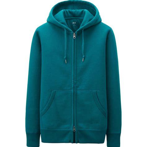 Uniqlo Zip Hoodie 7 uniqlo sweat zip sleeve hoodie in green for lyst