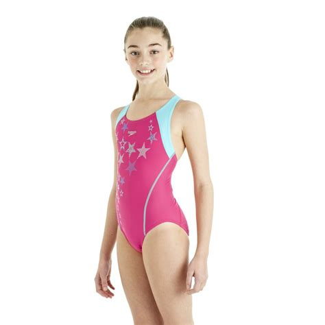 speedo girl swimsuit speedo arrowturn placement splashback girls swimsuit