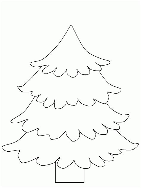 christmas tree coloring page template christmas tree printable template coloring home