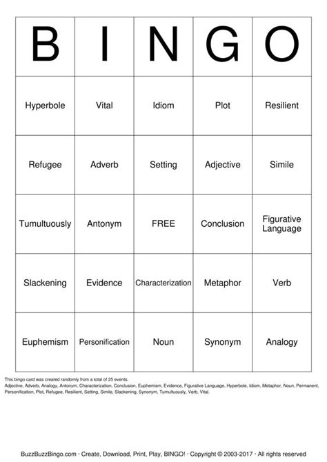 pattern verb synonym barnett bingo bingo cards to download print and customize