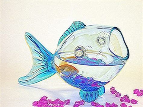 Fish Shaped Fish Bowl by Glass Fish Shaped Fish Bowls Excellent Centerpieces