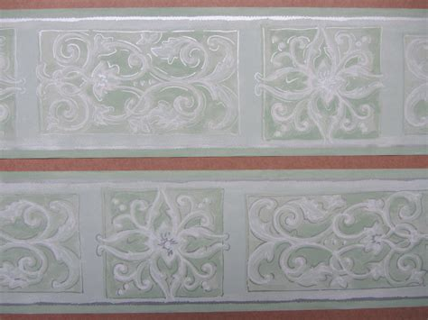 self adhesive wallpaper borders ornate scroll green wallpaper border self adhesive bedroom