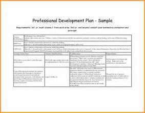professional development plan template free 9 professional development template parts of resume