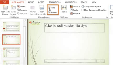 section header layout powerpoint 2010 powerpoint 2013 slide master view