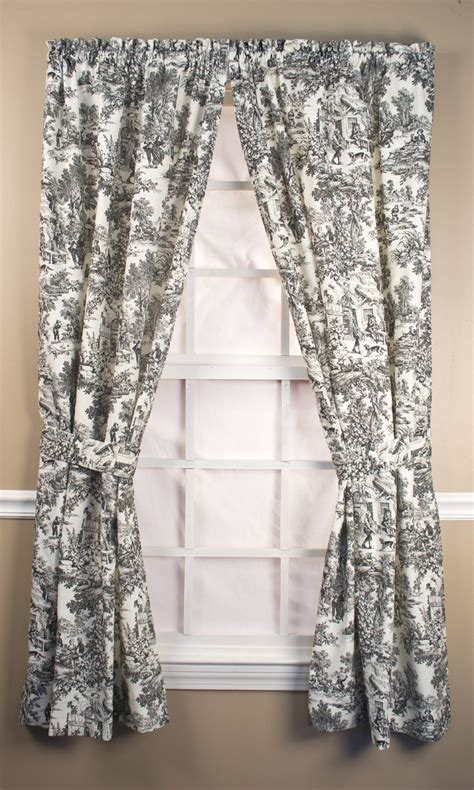 toile curtain victoria park toile tie up valance thecurtainshop com