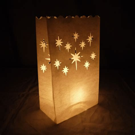 How To Make Paper Luminaries - luminarias paper craft bag 10 pack retardant