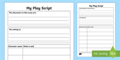 play writing template play script templates play act drama