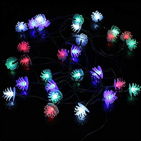 philips pine cone string lights 5m 20 led pine cone christmas solar led string lights