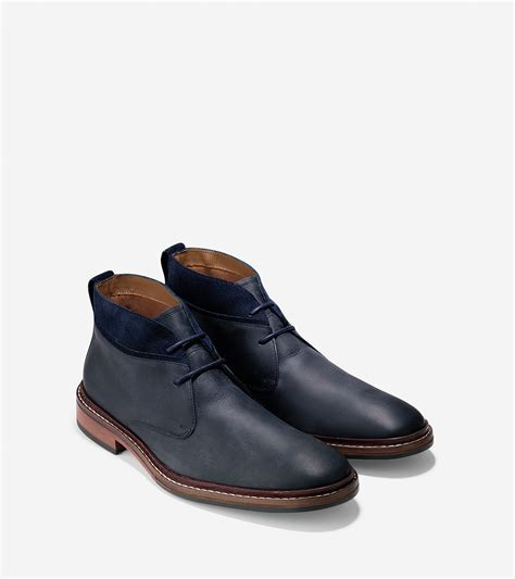 cole haan williams boot cole haan williams welt chukka boots in blue for lyst