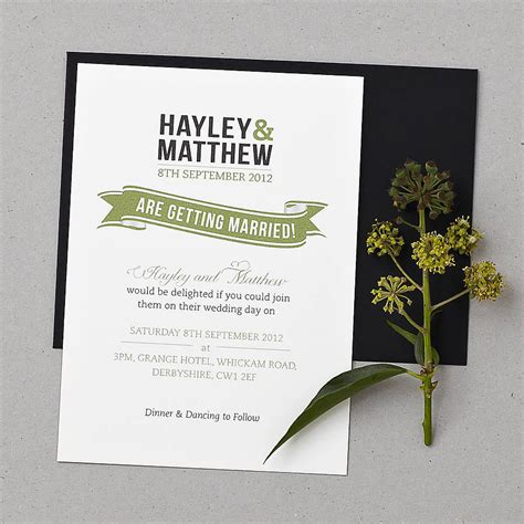 baker wedding invitation set by doodlelove notonthehighstreet