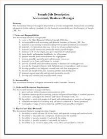 Business Manager Job Description Template A Job Description Example Business Proposal Templated