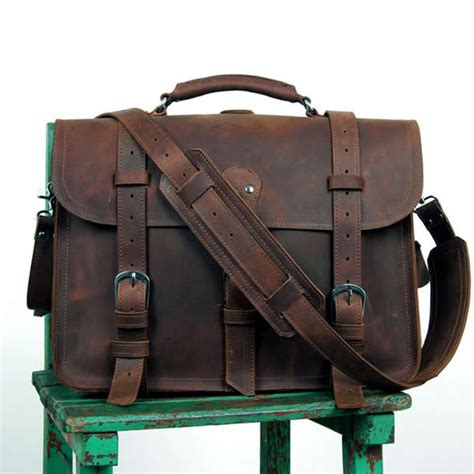 Handcrafted Backpacks - s large handmade vintage leather briefcase leather
