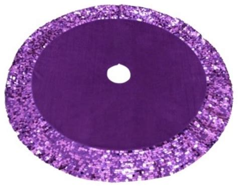 tree skirt with sequins purple eclectic christmas