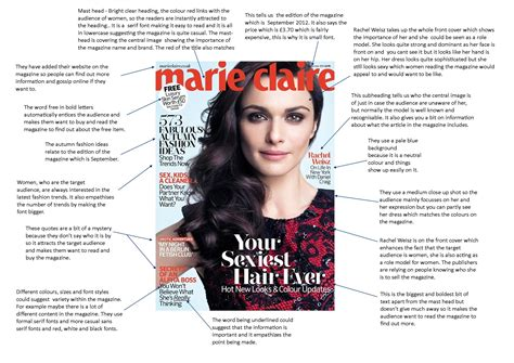 magazine cover layout analysis marie claire front cover analysis hnutsfordmedia
