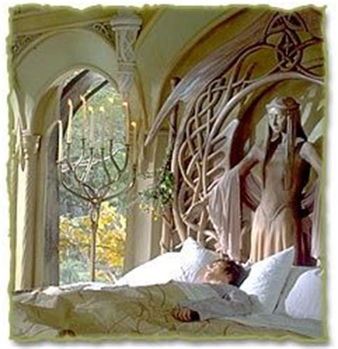 elven bedroom frodo at rivendell love the candle holder favorite