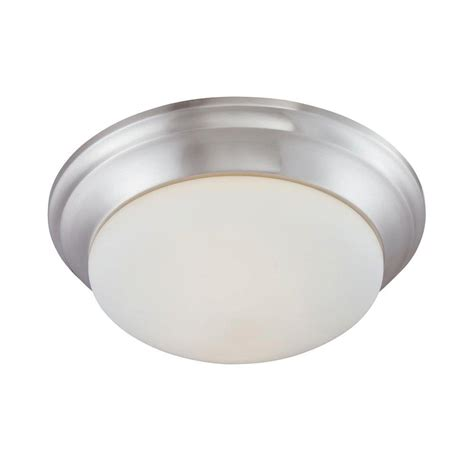 a guide to where nickel ceiling lights best match warisan lighting lighting 2 light brushed nickel ceiling flushmount 190035217 the home depot