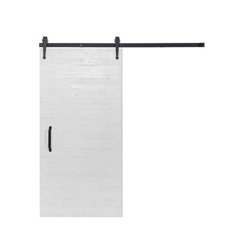 Sliding Barn Door Hardware Home Depot Rustica Hardware 36 In X 84 In Rustica Reclaimed White Wood Barn Door With Arrow Sliding Door