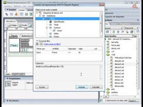dreamweaver xslt tutorial 037 curso dreamweaver cs3 ordenar y filtrar con xslt