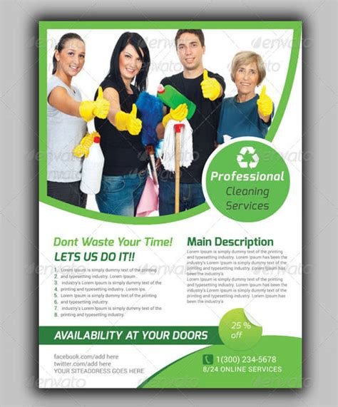house cleaning services flyer templates 8 cleaning company brochures editable psd ai vector