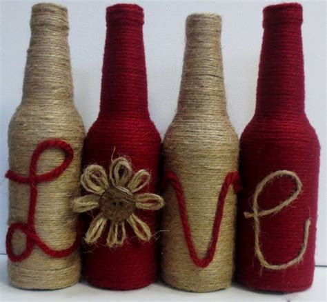 1000 ideas about decorated wine bottles on