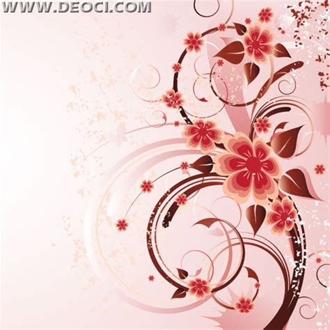 Quilling Designs by Free Vector Pink Background Rose Flower Illustration