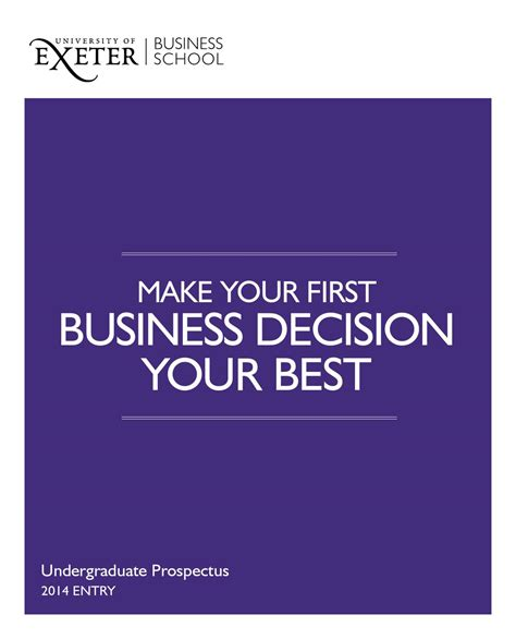 Exeter Mba Entry Requirements by Business School Ug Prospectus 2014 By Of Exeter