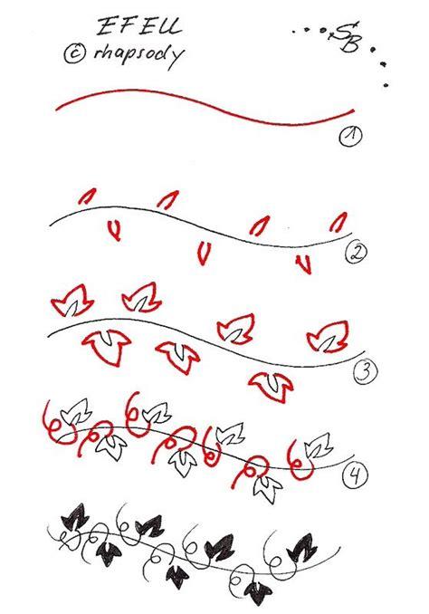 festoon zentangle pattern meine mustergalerie ivy look muster und nizza