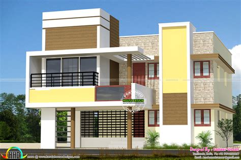 house plan tamilnadu style home design modern in sq