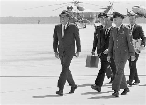 Fo St Bost On Amrik Navy trip to boston president kennedy arrives at logan airport presidential aide kenneth p o