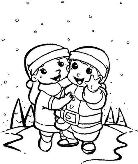 imagenes de invierno para niños para colorear ni 241 os bajo la nieve dibujalia dibujos para colorear
